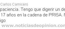 carlos carnicero despedido twitter