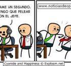cyanide and happiness en español pelea con el jefe