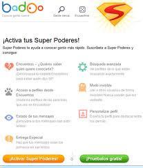 SuperPoderes de prueba en Badoo